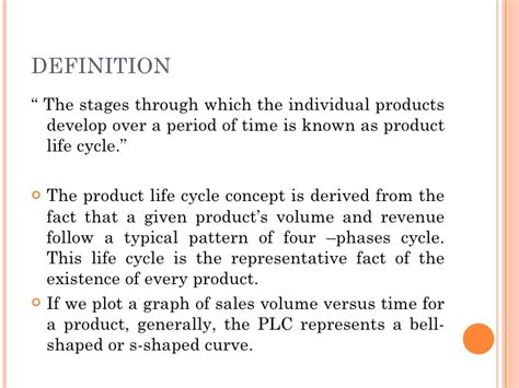 biography development definition product life cycle