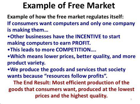 exle of market economy economic systems ppt