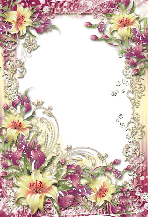 8 Floral And Lovely Projects by Colorful Floral Border Photo Frame Png 878 215 1280 40