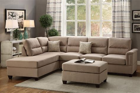 brown sectional sofa brown fabric sectional sofa and ottoman a sofa