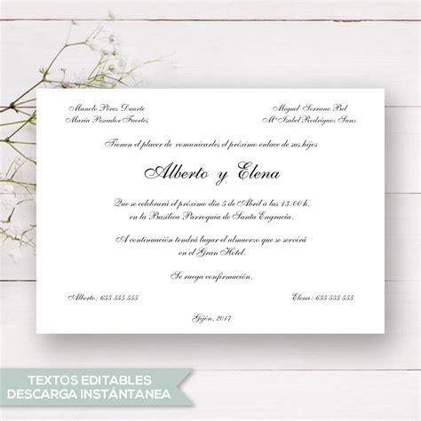 revalidaci 243 n de tarjetas tarjetas de invitacion para imprimir boda verde invitaci