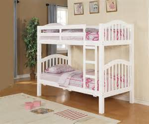 Furnituretrust gt bunk beds gt beacon white cottage style twin bunk bed