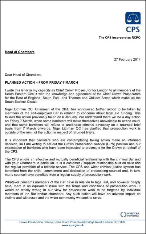 Cps Search Cps Letter To Barristers About 7 March Strike Cheek