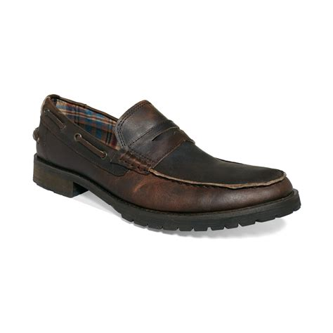 bed stu loafer lyst bed stu jefferson loafers in brown for