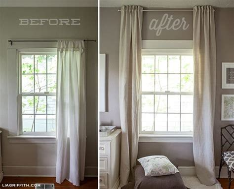 hang curtains higher than window 25 best ideas about long curtains on pinterest curtains