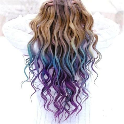light brown hair chalk light brown hair with blue dip dye pixshark com