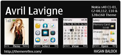 nokia 110 animated themes download avril lavigne animated theme for nokia c1 01 c1 02 c2 00