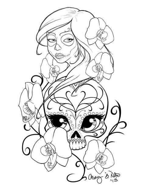 sugar skull stencil sugar skull sleeve tattoo design by