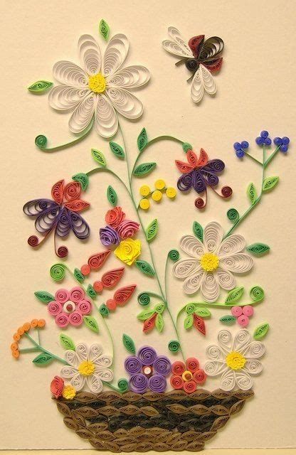 flower pattern for quilling flower quilling patterns