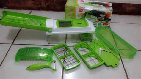 Alat Pemotong Sayur Vegetarian Dengan Pengasah Pisau alat pemotong buah sayur genius nicer dicer plus multi chopper murah
