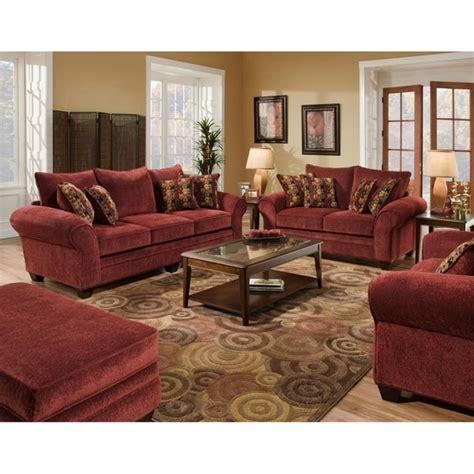 Burlington Upholstery by Burlington Burgundy Sofa And Loveseat Set 14792448