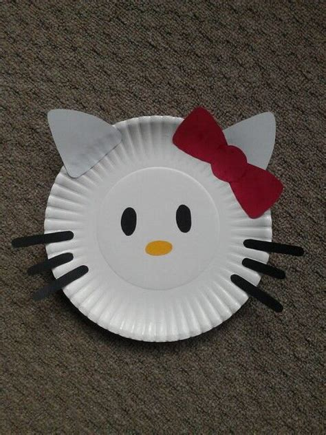 Hello Paper Craft - hello paper plate craft just cut shapes from
