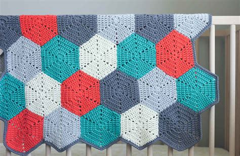 """Happy Hexagons"" Free Crochet Afghan Pattern   Make & Do Crew"