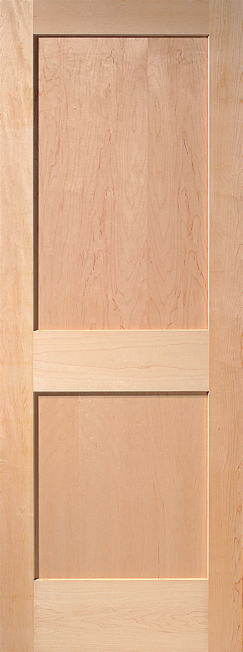 2 Panel Maple Interior Door 2 Panel Wood Interior Doors