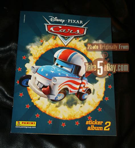 Cars Toon Sticker Album by Disney Pixar Cars New Panini Sticker Book 2 Take Five