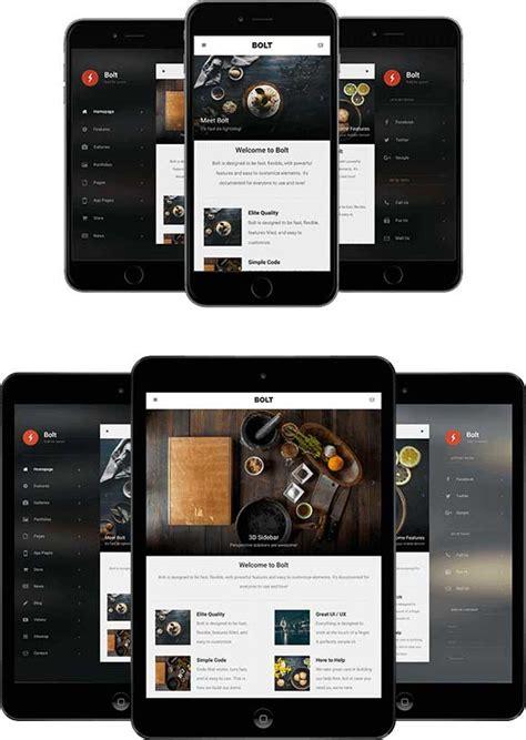html5 mobile templates 30 best jquery mobile web templates 2016 designmaz
