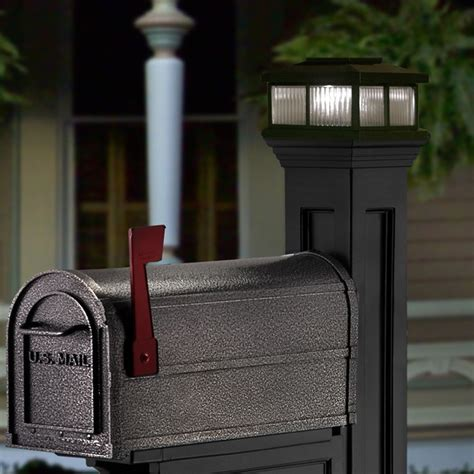 solar light for mailbox posts aspenberry