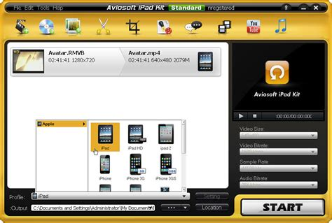 format video on ipad convert hd video to ipad with aviosoft ipod converter