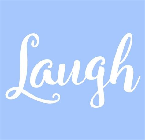 pattern out of words 5 5 quot laugh stencil word stencils template templates