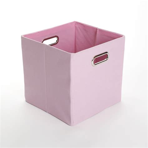 canvas storage bins giggle dots rose solid pink canvas folding storage bin