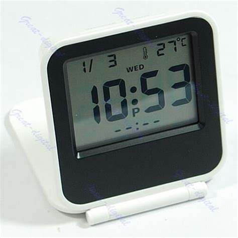 large digital lcd thermometer calendar folding travel