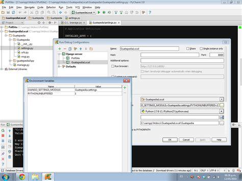 tutorial django pycharm configuring an existing django project on pycharm python