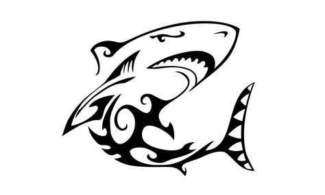 great white shark tribal tattoo great white shark tribal