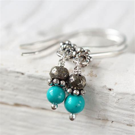 turquoise birthstone turquoise december birthstone earrings by artique boutique