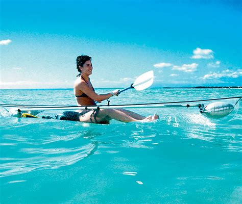 glass bottom boat vision submarina the transparent canoe