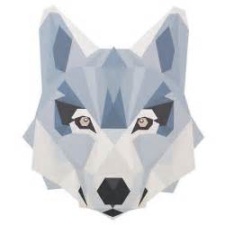 Geo wild wall decal wolf the land of nod