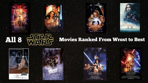 misteri film star wars all 8 star wars movies ranked from wrost to best youtube