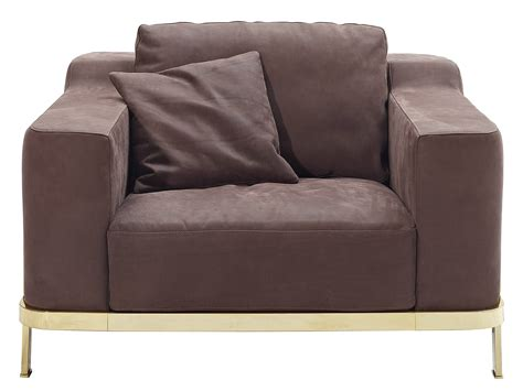 nube armchair upholstered leather armchair with armrests odilon