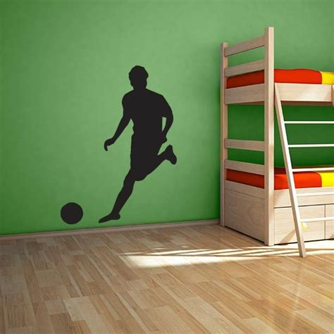 soccer wall sticker large soccer player wall decal wall decal world