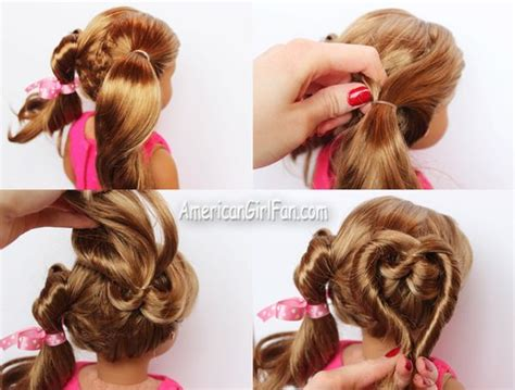 step bu step coil hairstyles doll hairstyle valentine s day heart pigtails