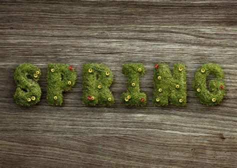 grass typography photoshop tutorial grass flowers and leaves for amazing text effect photoshop