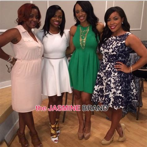 real house wives of atl carmen hairstyles celebration time kandi burruss bridal shower brings out