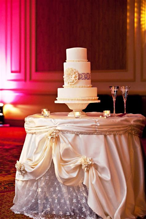 Wedding Cake Table Décor Ideas