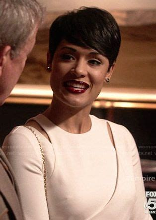 the show empires short hairstyles anika s white cutout top on empire outfit details http