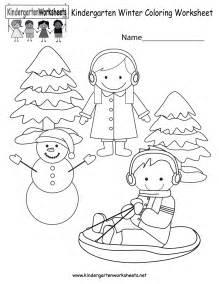 kindergarten coloring worksheets free printable winter coloring worksheet for kindergarten