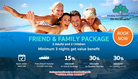Family Package phuket hotel the royal paradise hotel spa hotel