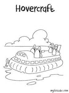 hovercraft coloring page my first abc