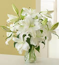 Vase Full Of Roses White Stargazer Lilies Flower Wanda S Posh Posy Florist