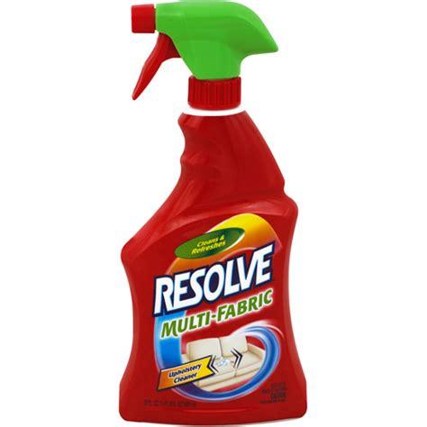 Best Upholstery Fabric Cleaner by Resolve Multi Fabric Cleaner 22 Oz Walmart