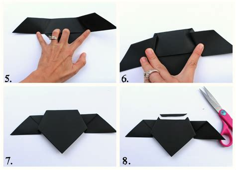 Easy Bat Origami - origami bats a and a glue gun