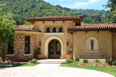 home plans exterior mediterranean with stucco siding inspired stucco colors look san francisco mediterranean