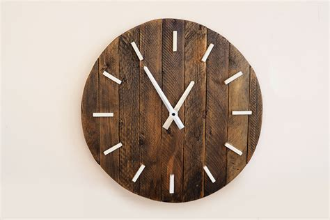 rustic clock handmade wall clocks on etsy handmade