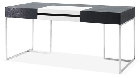 contemporary desk contemporary oak office desk with white accent