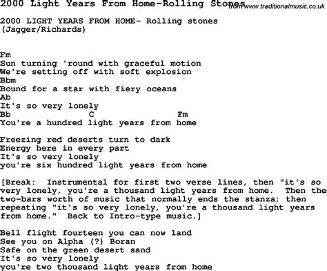 Learning To Be The Light Lyrics by Blues Guitar Lesson For 2000 Light Years From Home Rolling