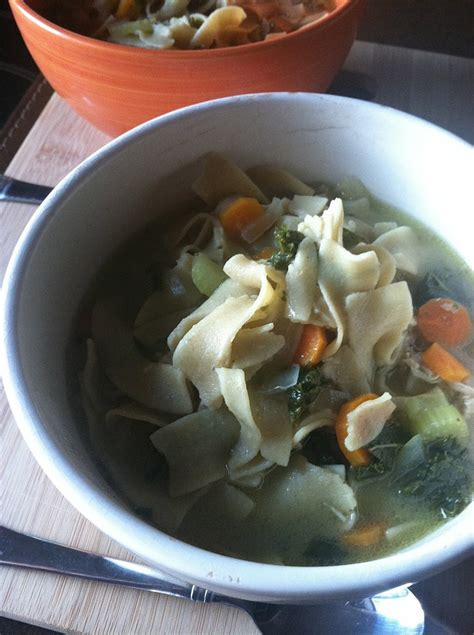 crockpot kale crockpot chicken noodle and kale soup fit real food