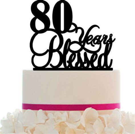 80 years of color books cake topper 80th birthday anniversary personalized by